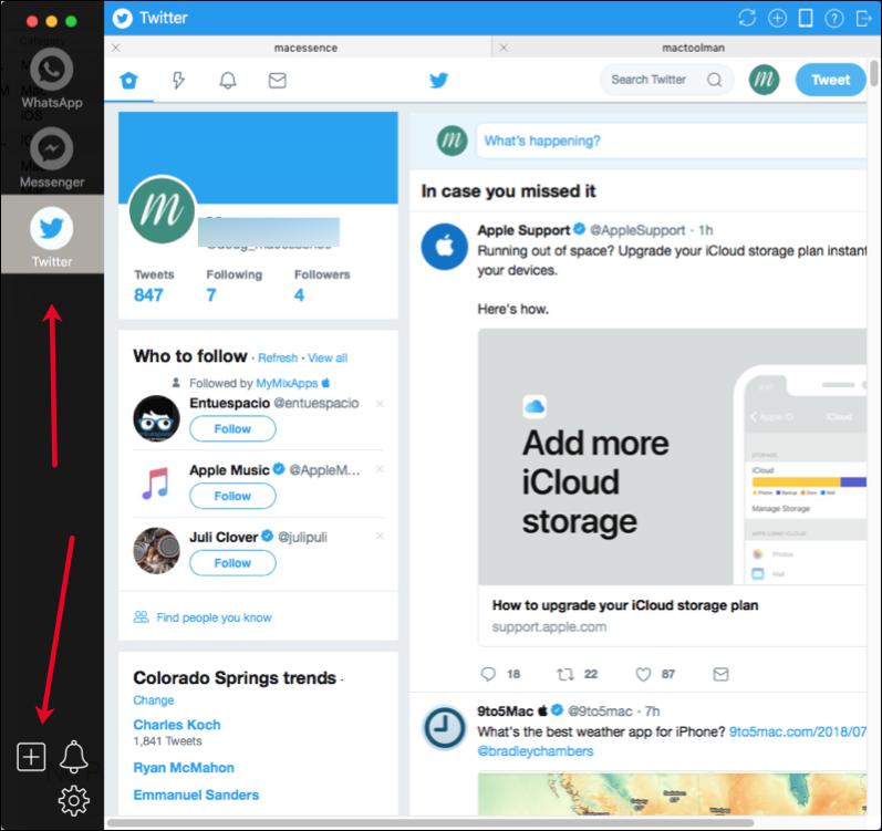 Twitter Window