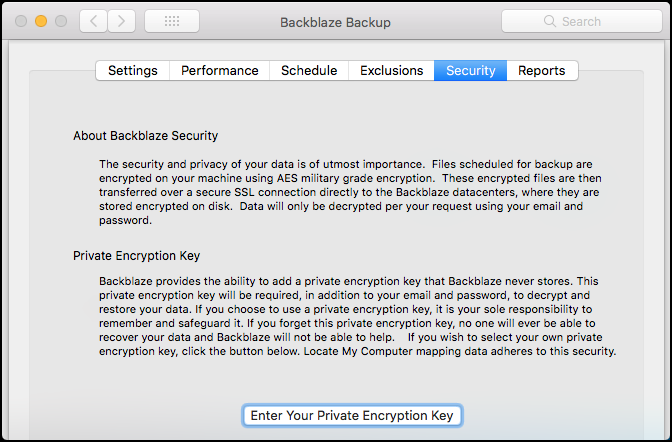 BackBlaze Security