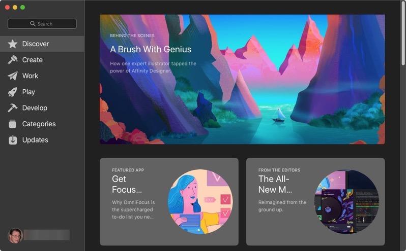 App Store Main Window