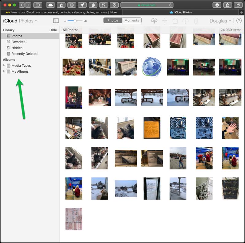iCloud Photos Displayed