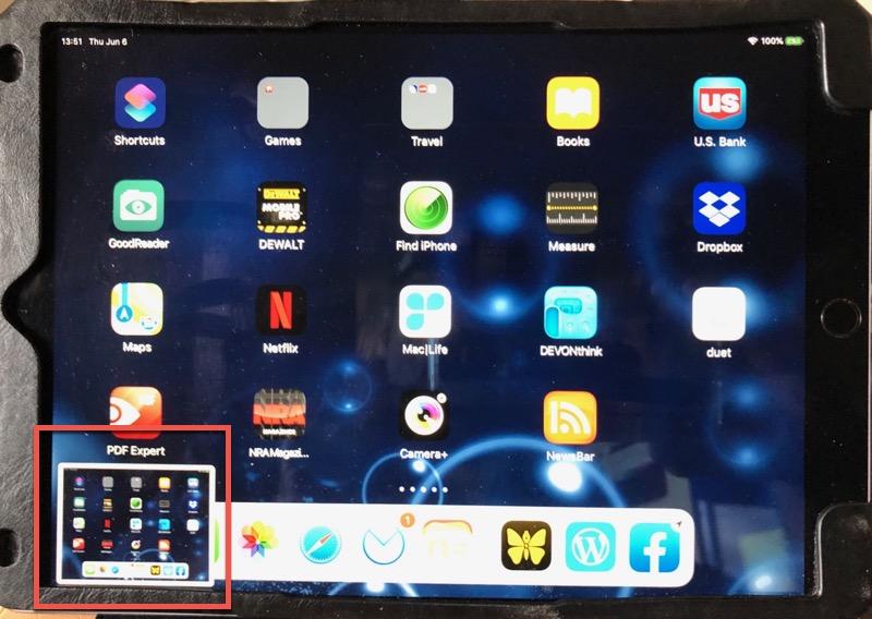 iPad Screenshot Thumbnail