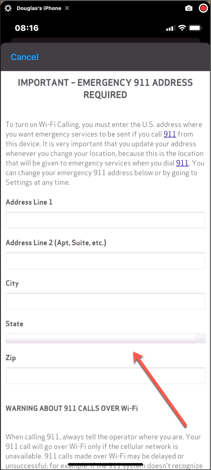 Emergency Address