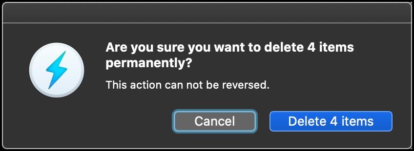 Delete Warning