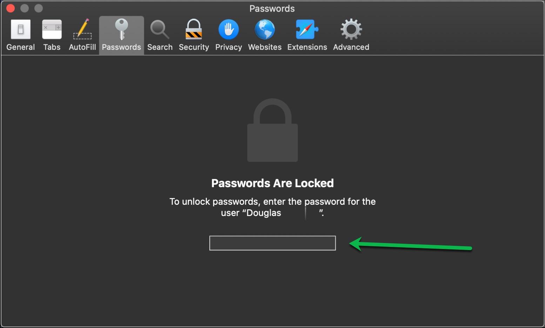 Passwords Unlock