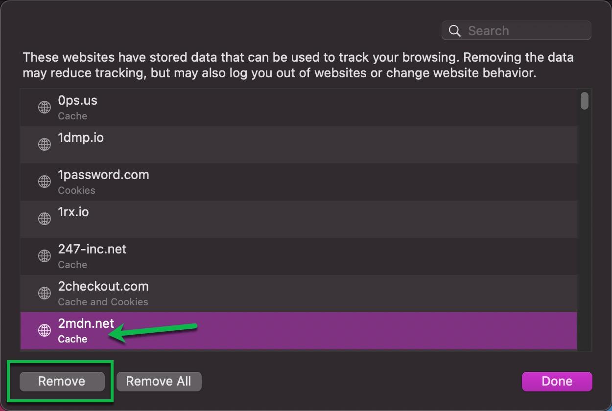 Remove Website